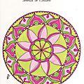 Mandala de printemps en couleurs