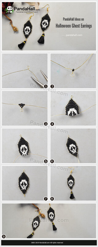 1-PandaHall-Ideas-on-Halloween-Ghost-Earrings