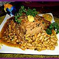 Rôti de porc flageolets