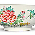 A famille-rose 'peony' bowl, yongzheng mark and period (1723-1735)