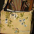 sac lin à fleurs Bleus, Intéri Vichy Bleu A VENDRE