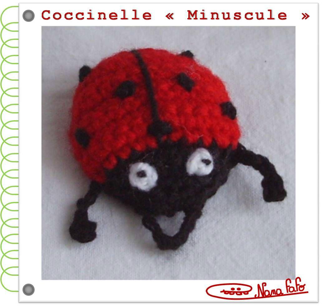 Coccinelle Minuscule crochet tuto