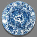 A blue and white porcelain plate from the 'san diego' cargo. circa 1600