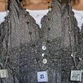Bijou à porter: Sautoir métal argenté vieilli et perles v