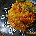 Riz aux couleurs indiennes