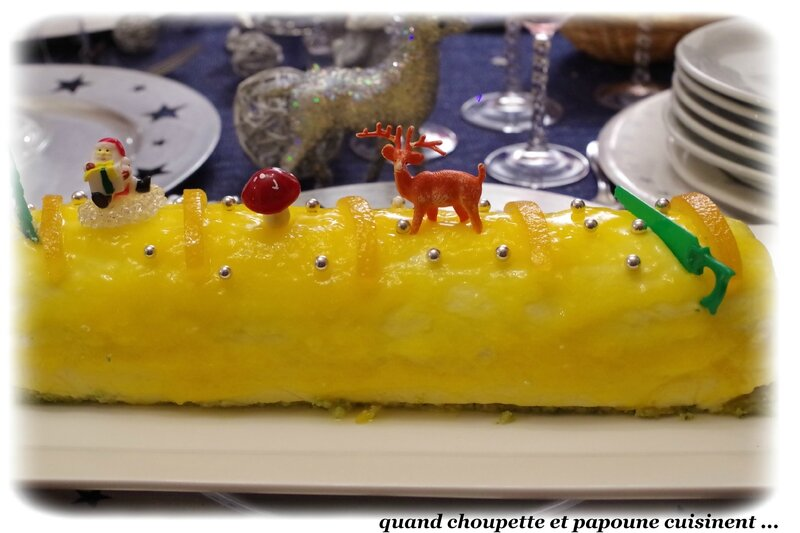 Buche de noel chocolat orange grand marnier