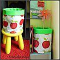 Sacs à jouets en toile cirée Pommes