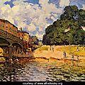 Sisley, le pont de Hampton court