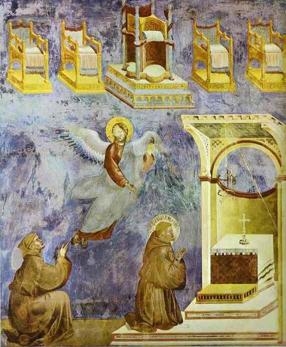 Saint François à la vision du trône
