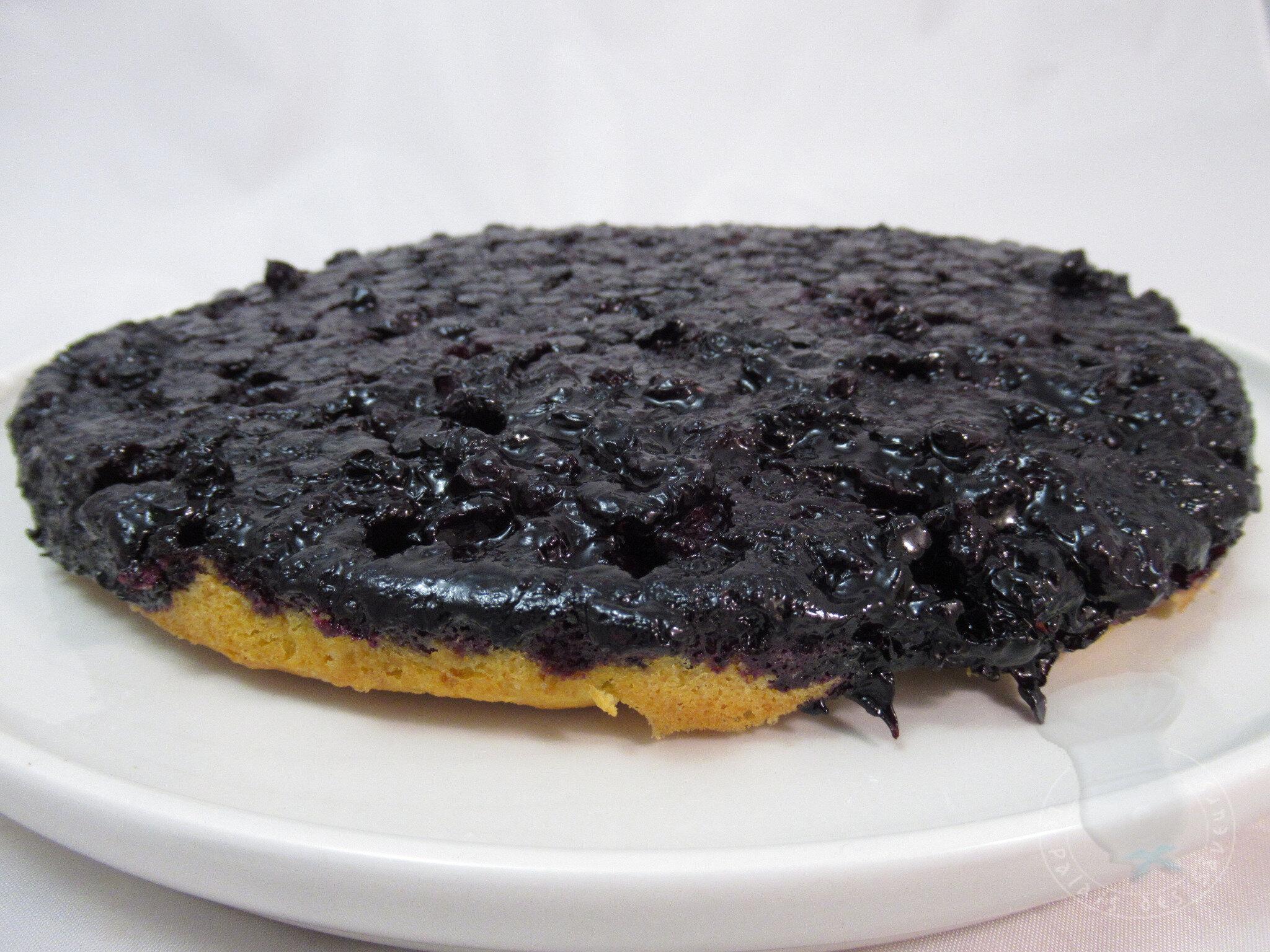Gâteau renversé aux myrtilles
