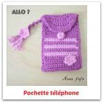 pochette telephone au crochet violet tuto