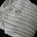 Un défi, une envie d'un body tricoté, du blanc, du pur...pour bébé