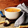 Soupe de butternut et patate douce au vitamix