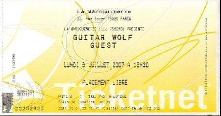 2007 07 Guitar Wolf Maroquinerie Billet