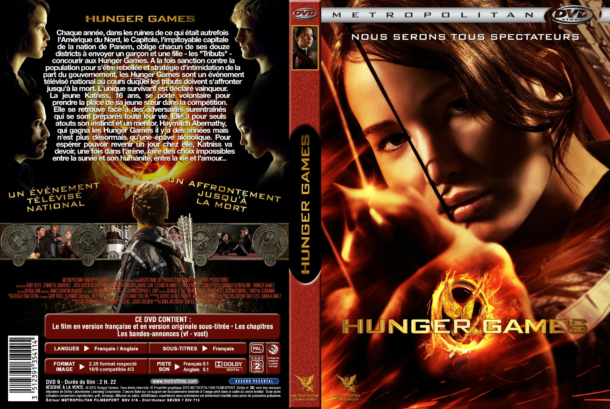 Jaquette HUNGER GAMES
