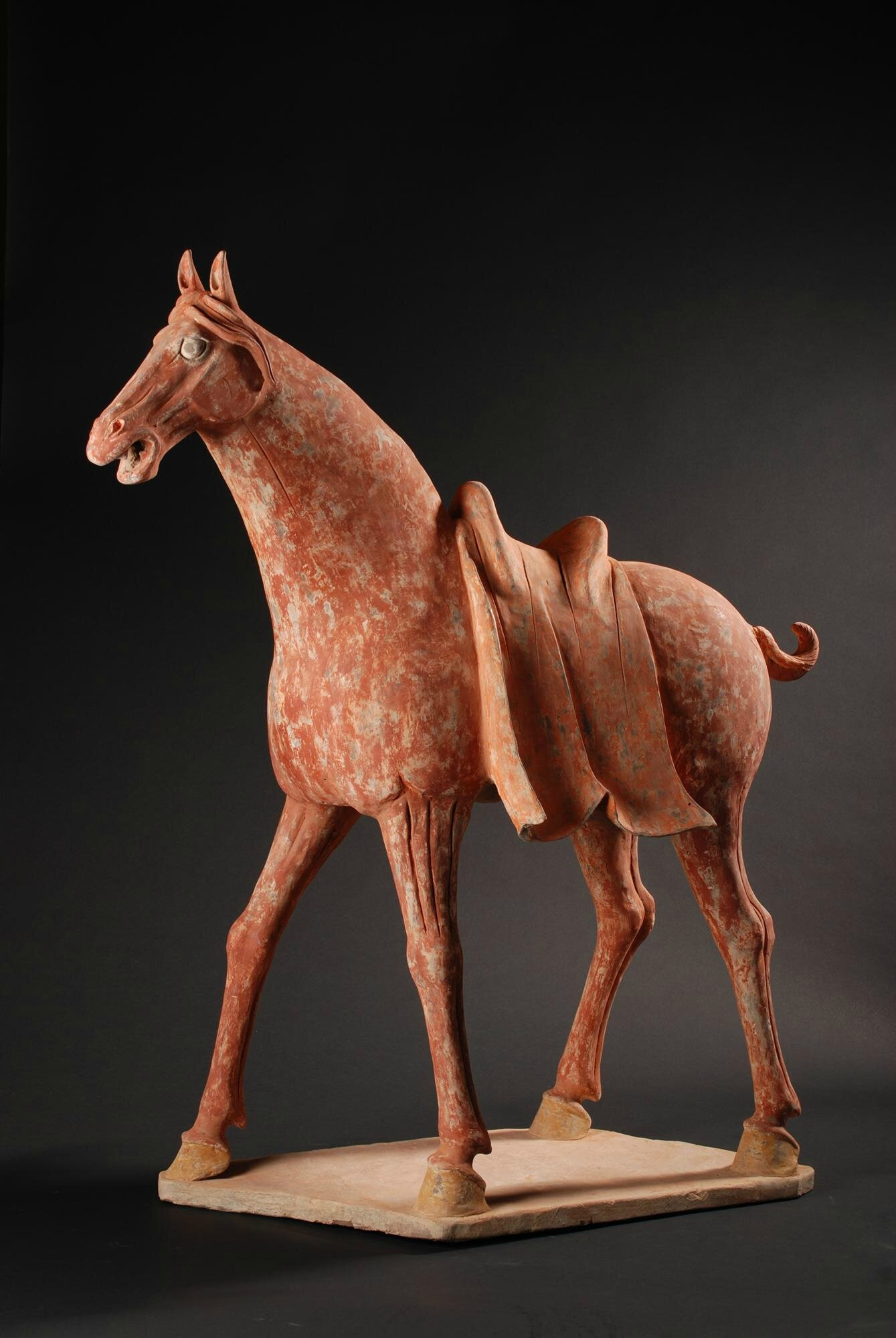 Terracotta Horse with Saddle, China, Tang Dynasty (618-907)