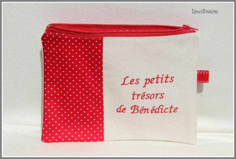 pochette rouge bénédicte