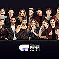 Les 5 finalistes de operación triunfo participeront à une grande finale pour représenter l'espagne