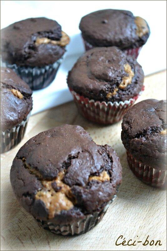 Muffins choco-spéculoos