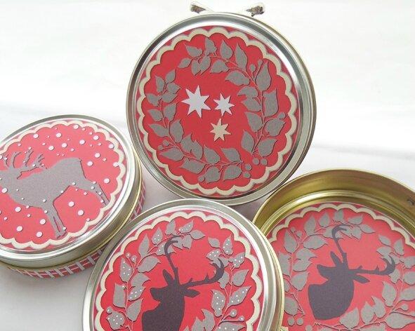 3 boites cadeau rouge