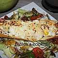 Egg boat aux allumettes de jambon et au maroilles