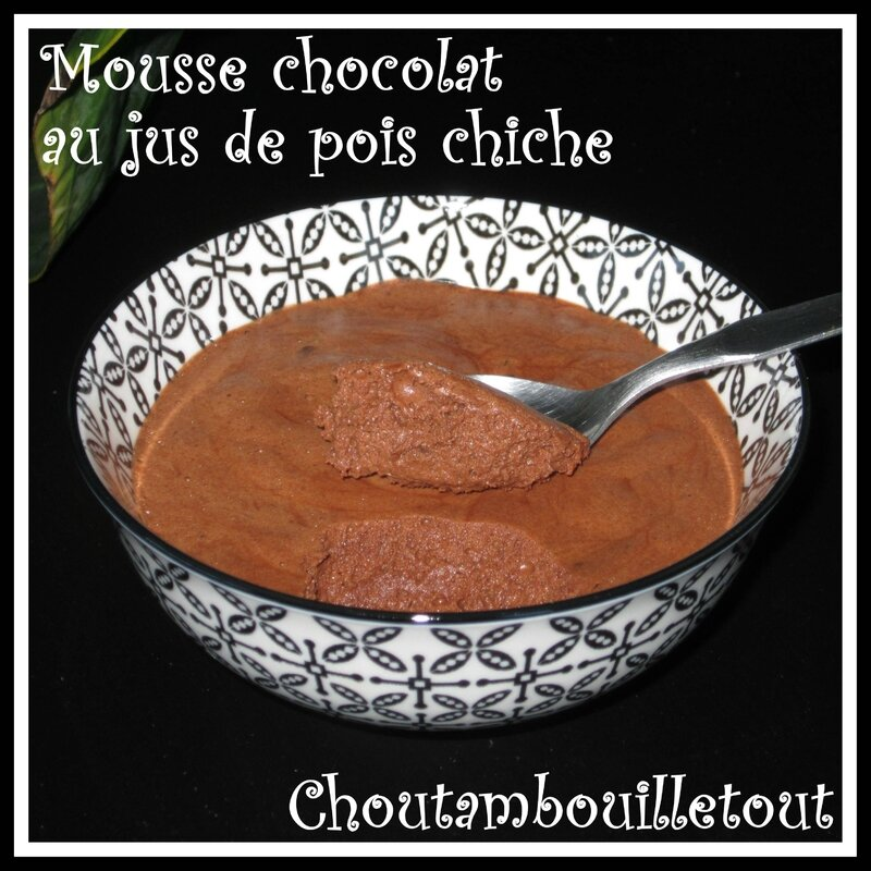 mousse chocolat pois chich