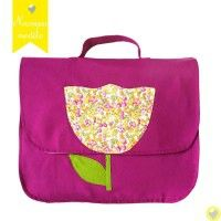cartable-ecole-tulipe-rose