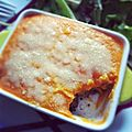 Hachis parmentier purée de carottes, gratiné au parmesan