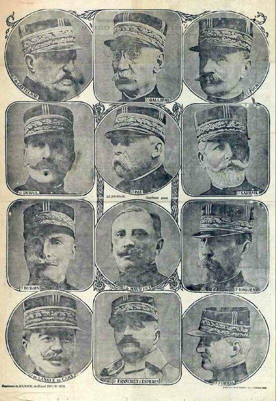 Généraux 1914-15