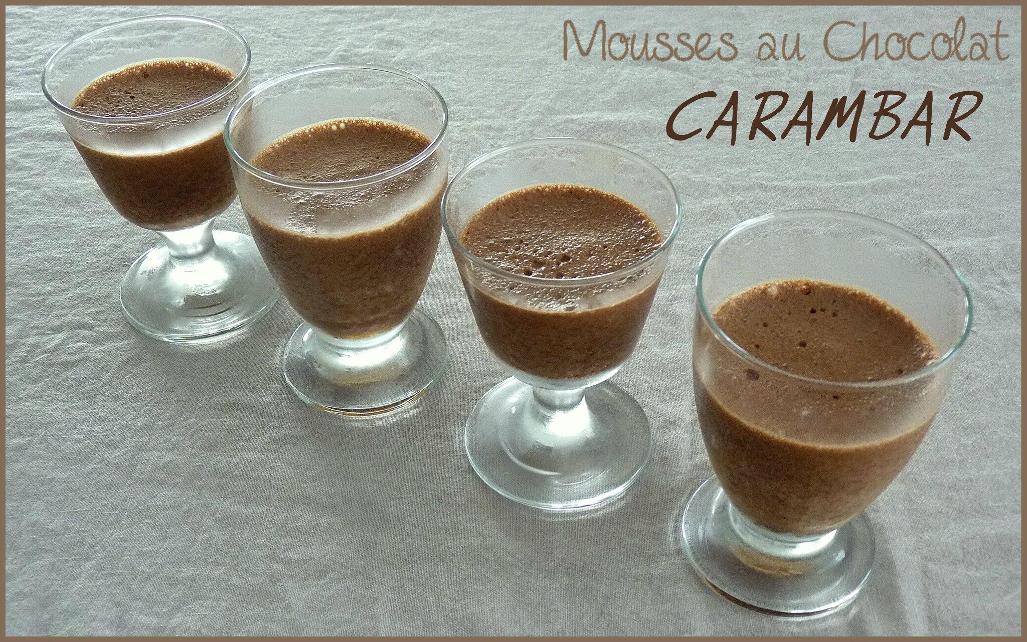Mousses au chocolat carambar