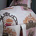 Ciré AGLAEen coton enduit gourmand brun orange et fushia sur fond beige (3)