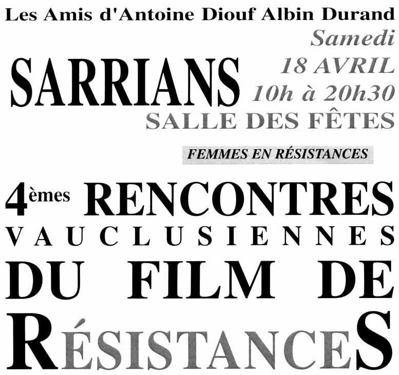 Affiche Sarrians 18 avril 2015
