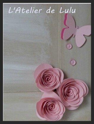 fleurs cadres naissances roses