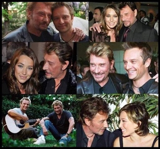 johnny hallyday david laura
