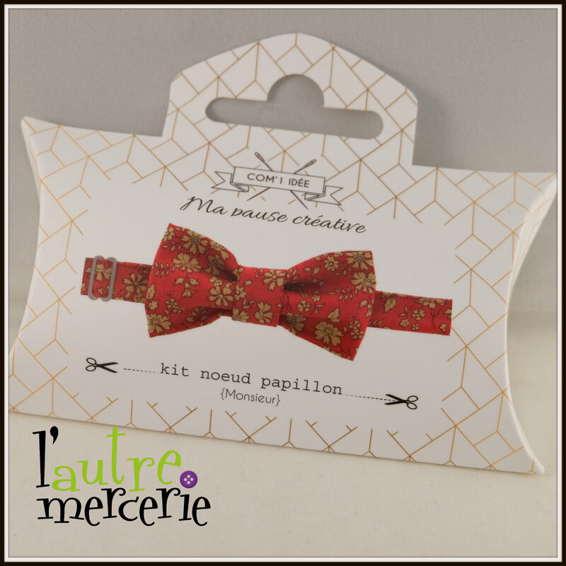 noeud papillon liberty capel rouge