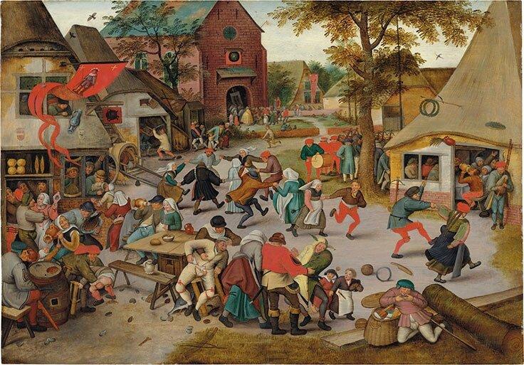 Pieter Brueghel II (Brussels 15645-16378 Antwerp), The Kermesse of Saint George