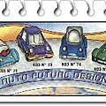 K03-73 voiture bleue