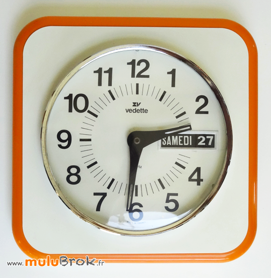 HORLOGE-VEDETTE-DATEUR-Orange-Vintage-1-muluBrok-Brocante