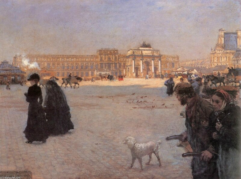 De-Nittis-The-Place-de-Carrousel-and-the-Ruins-of-the-Tuileries-Palace-in-1882