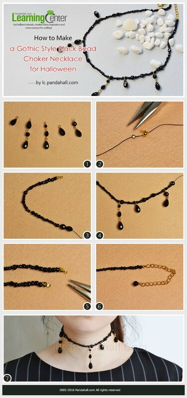 How-to-Make-a-Gothic-Style-Black-Bead-Choker-Necklace-for-Halloween