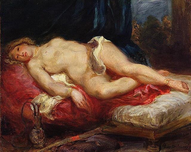 3-Eugene Delacroix - Odalisca sobre el divan (1827-28) (Fitzwilliam Museum, Cambridge) 2