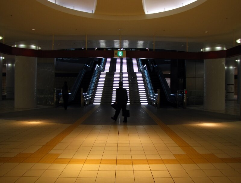 Kanazawa station ..en sous-sol