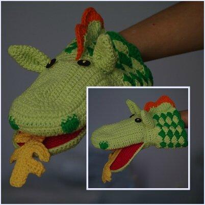 crocheter une marionnette dragon