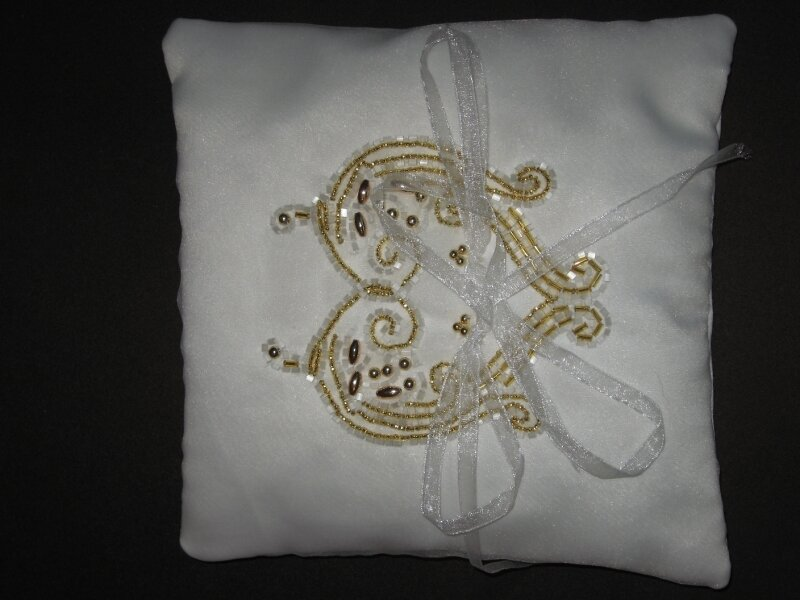 Coussin mariage Or 35€