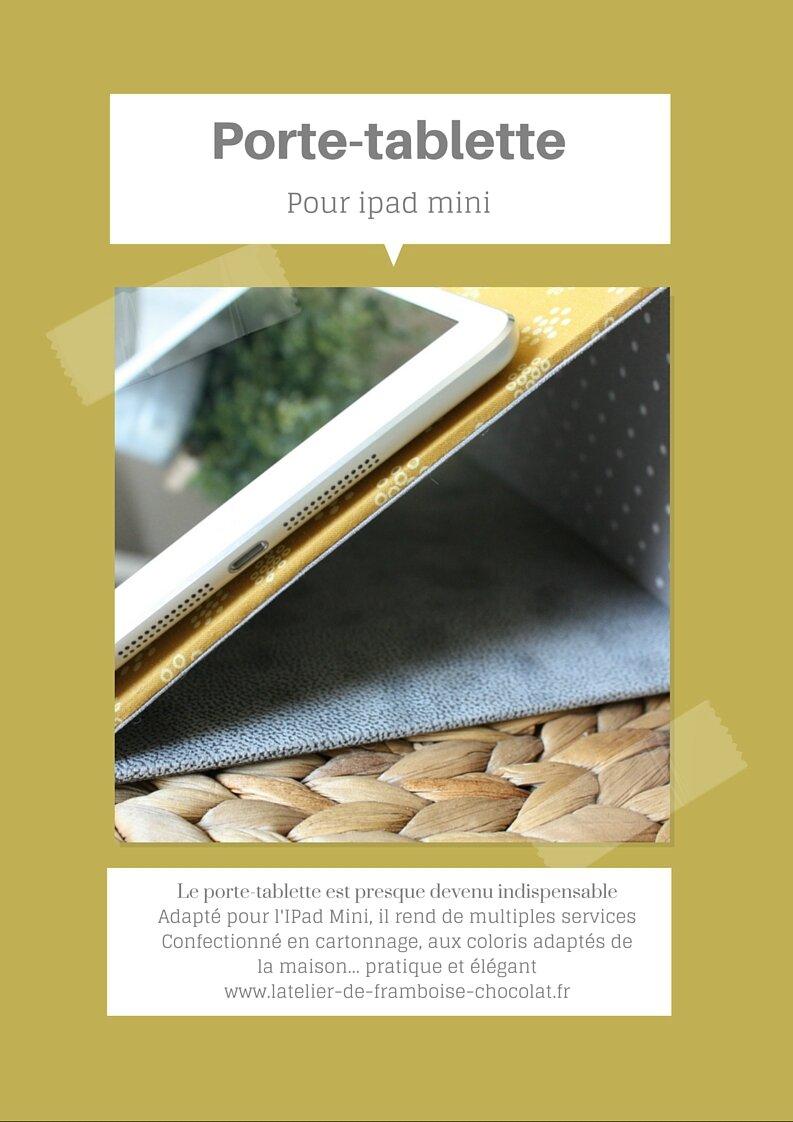 Affiche PORTE TABLETTE IPAD MINI L'ATELIER DE FRAMBOISE CHOCOLAT