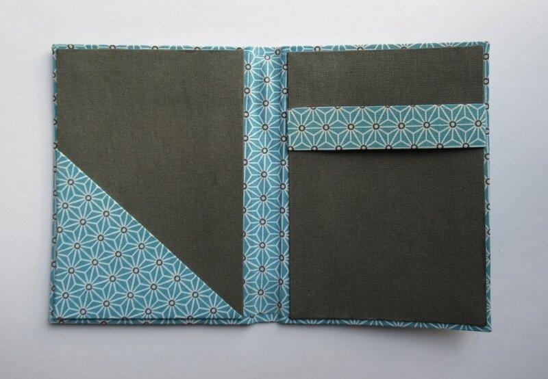 Porte bloc-notes Bleu (3)