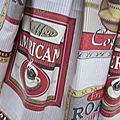 Ciré AGLAE en coton enduit imprimé PAUSE CAFE fermé par un noeud dans le même tissu (5)