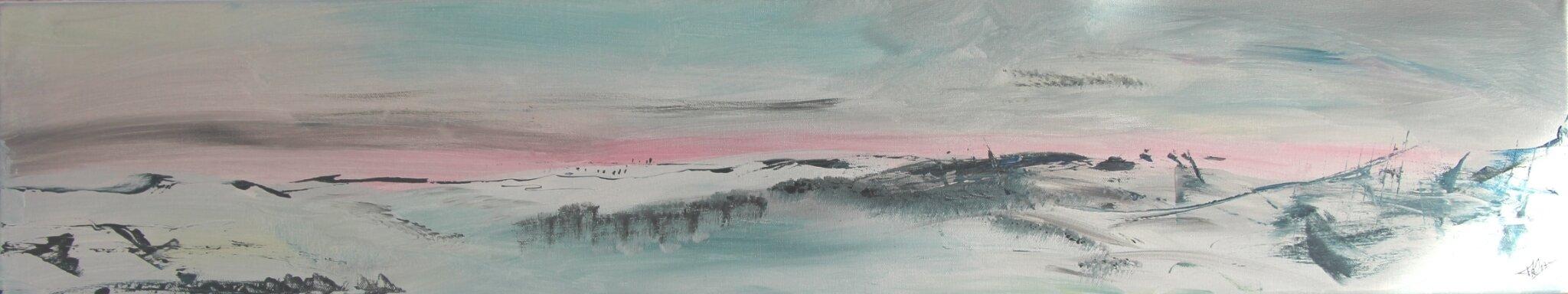 Nouvelle neige- acryl 2017- 100 X20cm- (n°112)