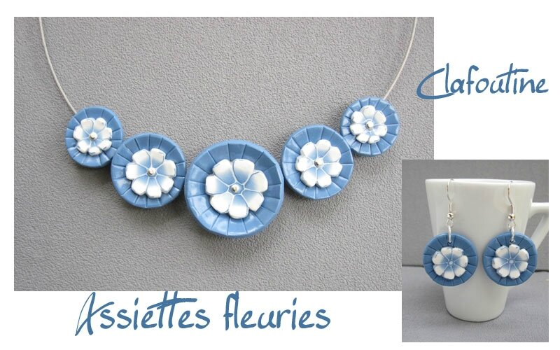 Assiettes fleuries