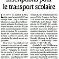 Transports scolaires 2013 - 2014